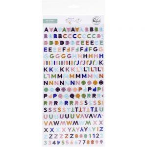 Pinkfresh Studio Days of Splendor Mini Puffy Alphabet