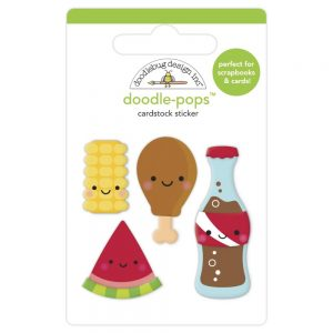 Doodlebug Designs Foodie Friends Doodle-Pop Cardstock Stickers