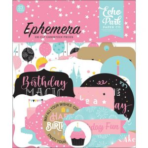 Echo Park Magical Birthday Girl Die Cut Ephemera
