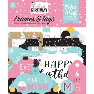 Echo Park Magical Birthday Girl Frames and Tags