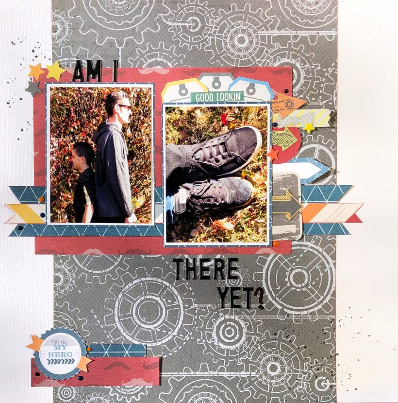 Am I There Yet Boy Scrapbook Layout