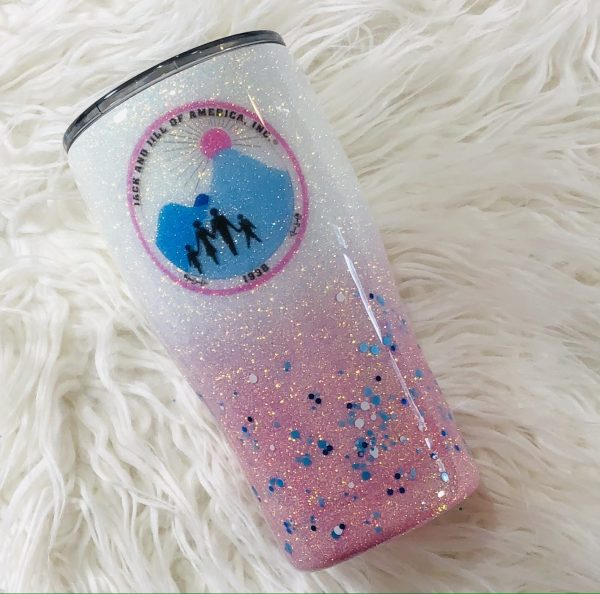 Jack and Jill Of America Pink Tumbler