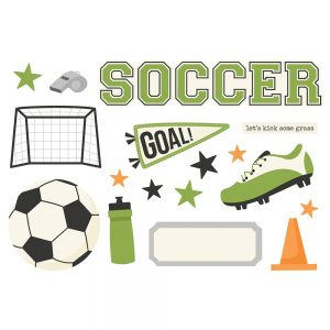 Simple Stories Page Pieces - Soccer Die Cuts
