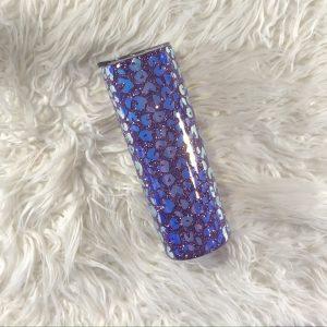 20oz Purple Leopard Glitter Stainless Steel Tumbler