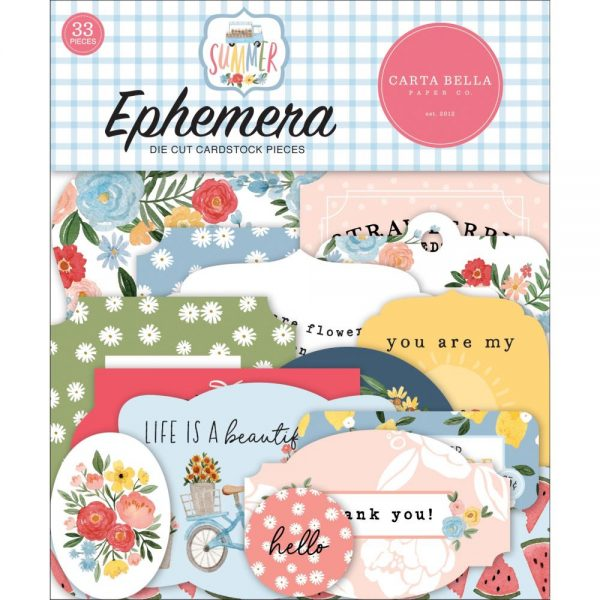 Carta Bella Summer Die Cut Ephemera