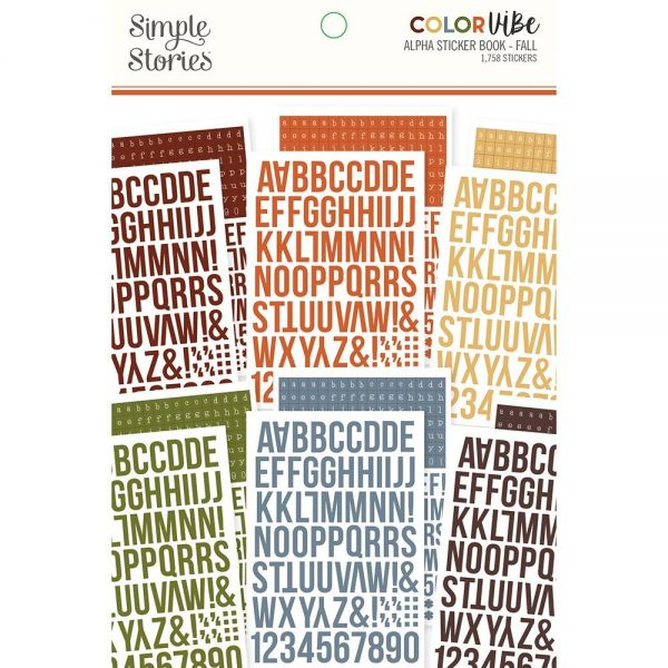 Simple Stories Color Vibe Alpha Sticker Book - Fall Colors