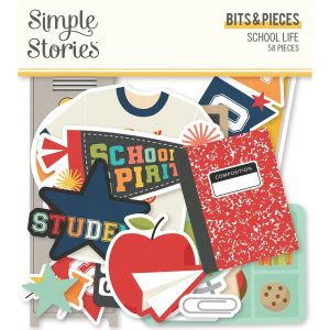 Simple Stories School Life Die Cut Bits and Piece Ephemera