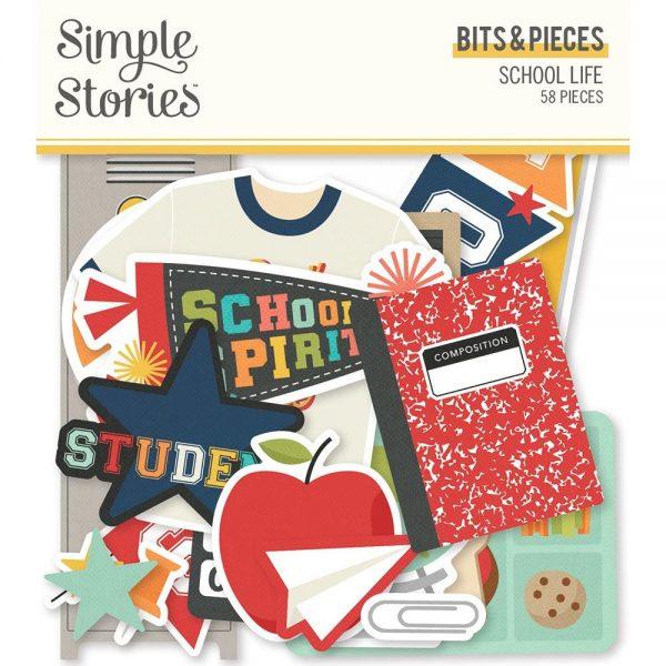 Simple Stories School Life Die Cut Bits and Piece Ephemera