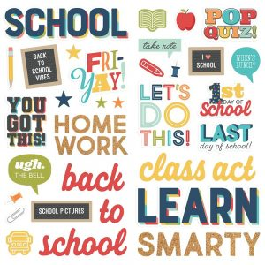 Simple Stories School Life Foam Stickers