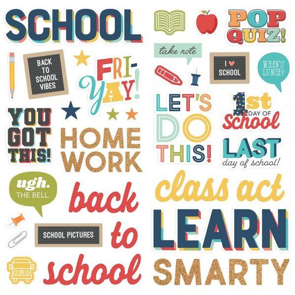 Simple Stories School Life Foam Stickers