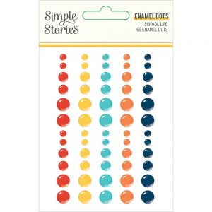 Simple Stories School Life Enamel Dots