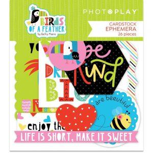 Photoplay Paper Birds of A Feather Die Cut Ephemera