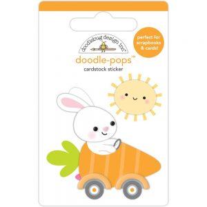 Doodlebug Design Bunny I'm Home Doodle-Pop 3D Sticker