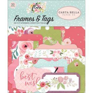 Carta Bella Flora 3 Frames and Tags