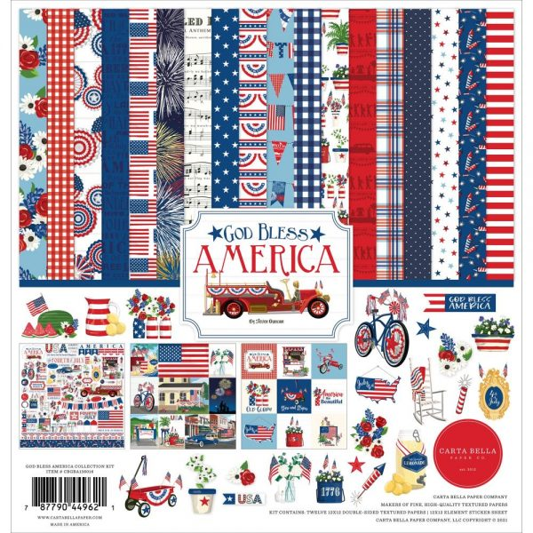 Carta Bella God Bless America 12x12 Collection Kit