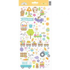Doodlebug Design Hippity Hoppity Cardstock Stickers
