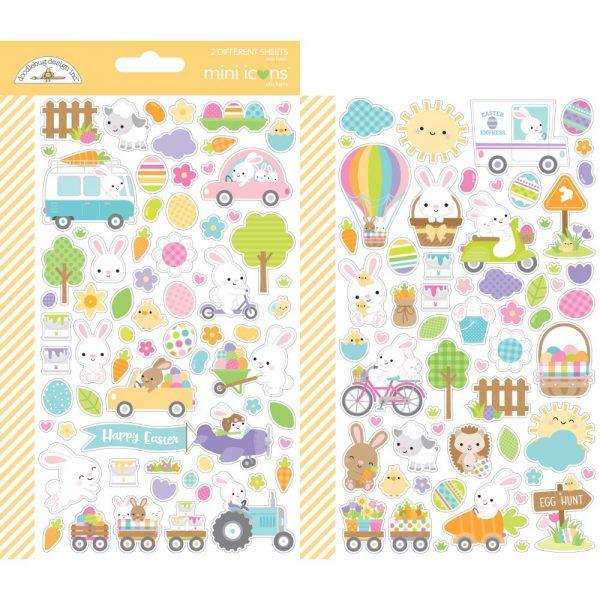 Doodlebug Design Hippity Hoppity Mini Icon Stickers