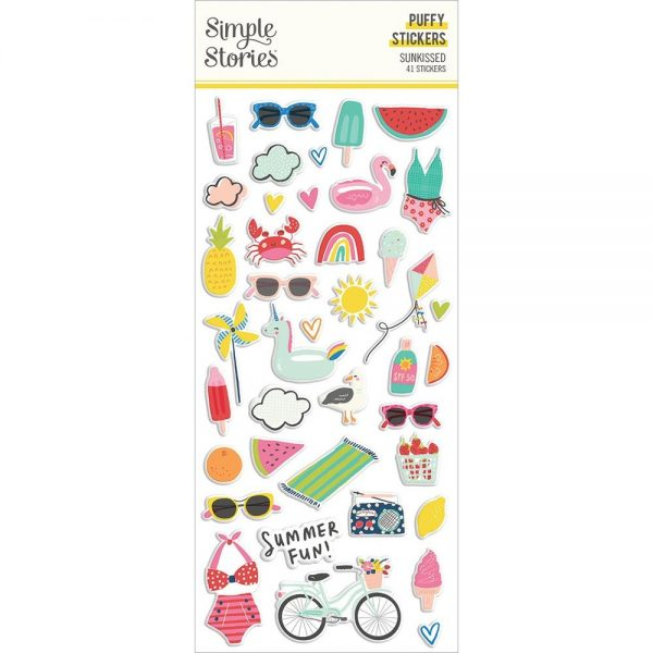 Simple Stories Sunkissed Puffy Stickers