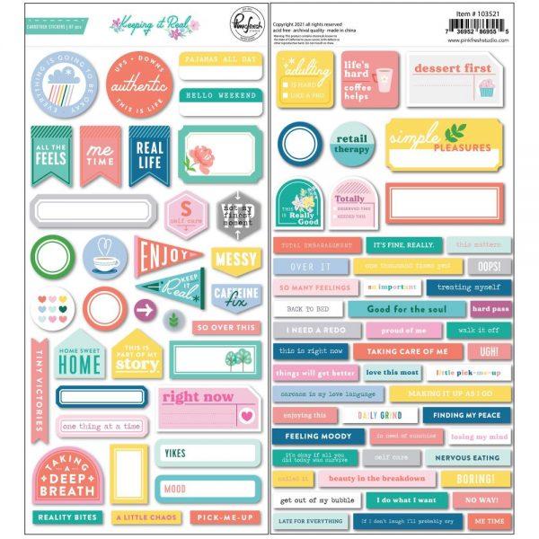Pinkfresh Studio Keeping It Real Cardstock Stickers