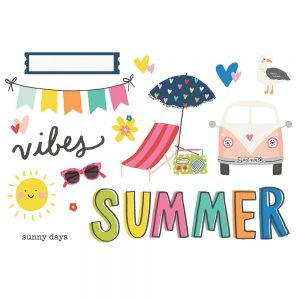 Simple Stories Sunkissed Summer Vibes Page Pieces