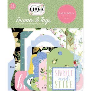 Carta Bella Flora 4 die cut frames and tags