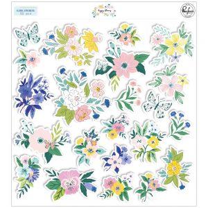 Pinkfresh Studio Happy Blooms Floral Ephemera
