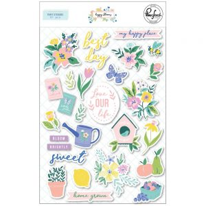 Pinkfresh Studio Happy Blooms Puffy Stickeres