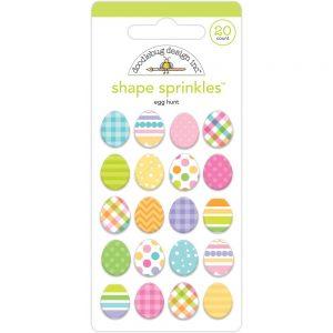 Doodlebug Design Egg Hunt Enamel Shape Sprinkles