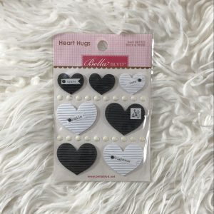 Bella Blvd Black & White Heart Hugs
