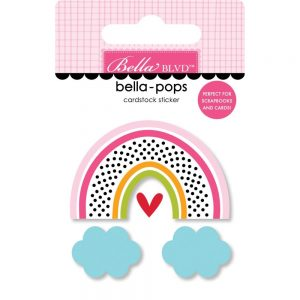 Bella Blvd Chasing Rainbows DImensional Stickers