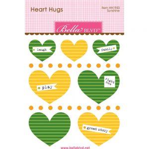 Bella Blvd Green & Yellow Heart Hugs