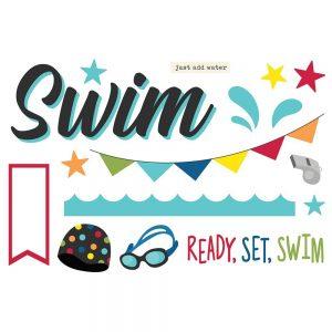 Simple Stories Swim Page Pieces